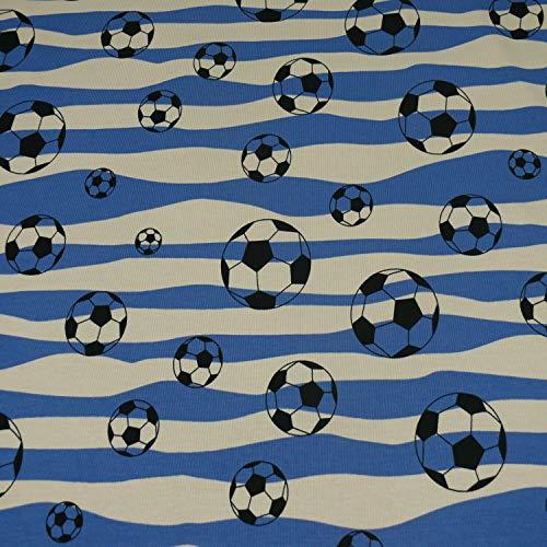 Jersey Fußball, Fußbälle, blau/weiss (25cm x 145cm)