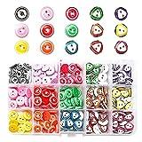 RoxNvm Bottoni colorati, Bottoni in resina di colori misti, 225 pezzi di bottoni decorativi, 2 fori in resina per bambini in 15 colori vivaci per lavorare a maglia, cucire, ornamenti, 12 mm (A)