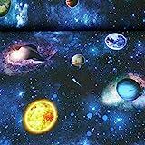 Dekostoff Tiffi, Weltraum, dunkelblau (Meterware ab 25cm x