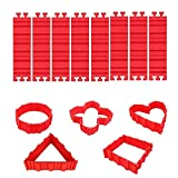 Silicone Cake Mold Cake Shapers Magic Snake DIY Baking square rectangular Heart Shape Round cake mould,Pack of 8