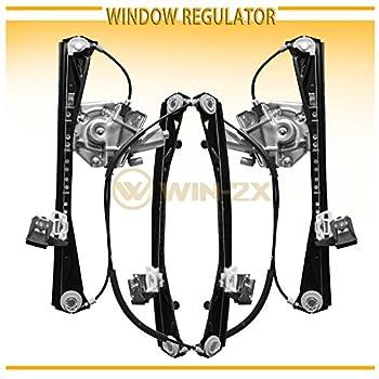 WIN-2X New 2pcs Front Driver & Passenger Side Power Window Regulators & Motors Assemblies Fit 00-02 Lincoln LS 00-01 Jaguar S-Type 02 VIN Up To M45254