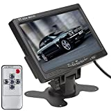 ePathChina 7 Inch TFT LCD Color Screen 2 Video Input Car RearView Headrest Monitor DVD VCR Monitor With Remote...