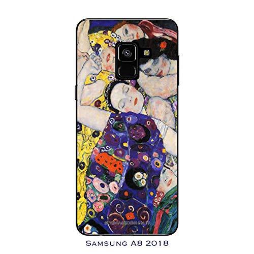 Funda Galaxy A8 (2018) Carcasa Samsung Galaxy A8 (2018) Gustav Klimt La virgen / Cubierta Imprimir tambi�n en los lados / Cover Antideslizante Antideslizante Antiara�azos Resistente a golpes Protect
