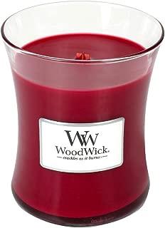 WoodWick Pomegranate Glass Jar Scented Candle, Medium 10 oz.