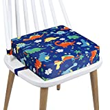 Toddler Booster Seat Dining, PU Washable 2 Straps Safety Buckle Kids Booster Seat