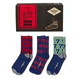 Gentlemen's Hardware Cotton Blend - Calcetines de la suerte para hombre, talla 7,5 a 11,5, juego de 3 pares, Hombre, Calcetines de la suerte, GEN183, verde, Small