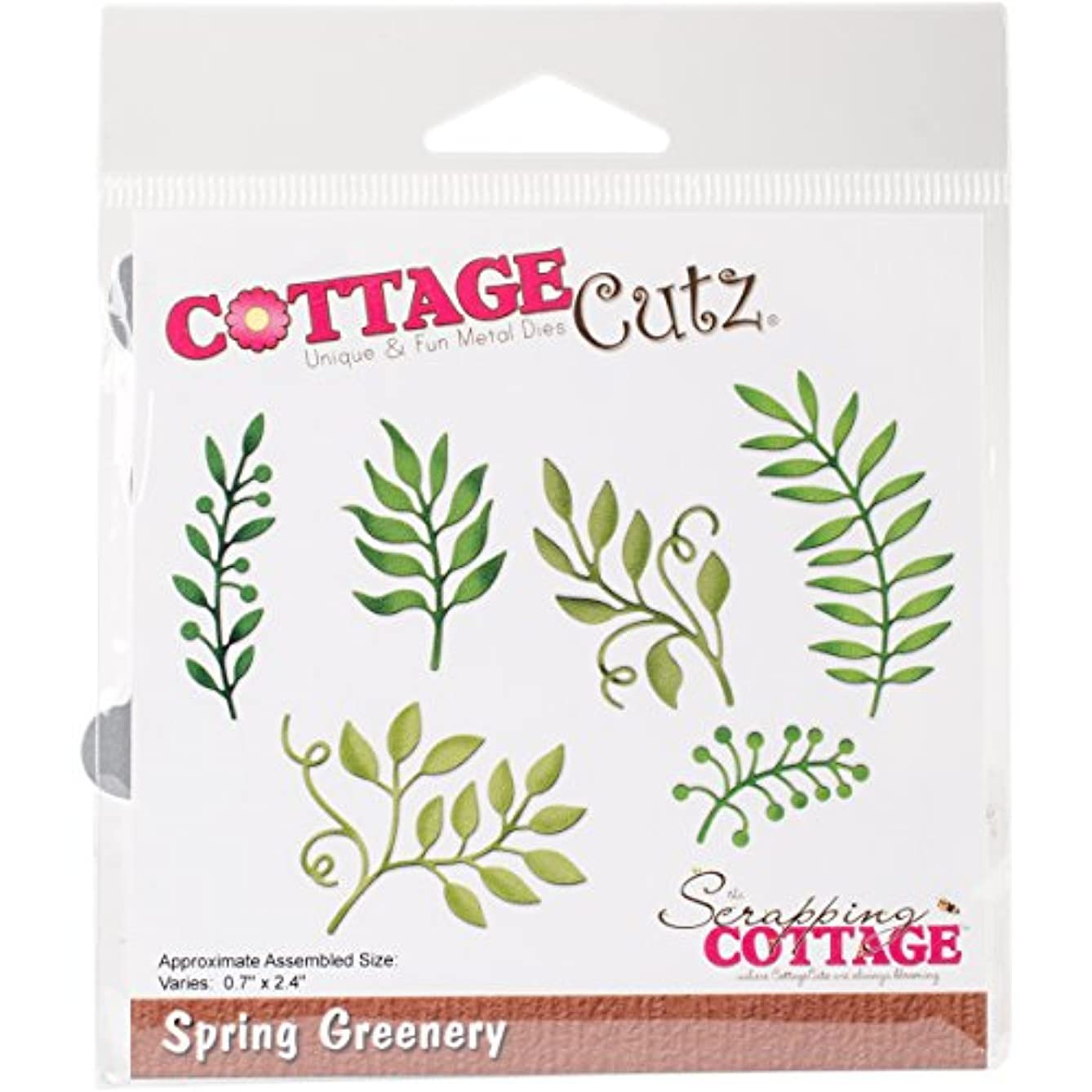 CottageCutz CC-244 Die-Spring Greenery, 0.7 inches to 2.4 inches