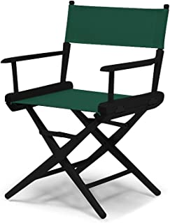 Telescope Casual World Famous Dining Height Director Chair, Forest Green with Black Frame
