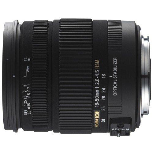 Sigma 18-50 mm F2.8-4.5 DC OS HSM-Objektiv (67 mm Filtergewinde) für Canon Objektivbajonett