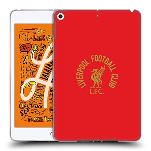 Head Case Designs Officially Licensed Liverpool Football Club Gold LFC On Red Liver Bird Soft Gel Case Compatible With Apple iPad mini (2019)