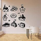 Pastel de fresa dulce Muffin Cupcake Pie Crema Pastelería Postre Panadería Etiqueta de la pared Vinilo Arte Calcomanía para hornear Tienda Cocina Restaurante Decoración para el hogar Mural