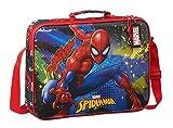 Safta Cartera Extraescolares de SpiderMan Go Hero, 380x60x280m, negro/rojo