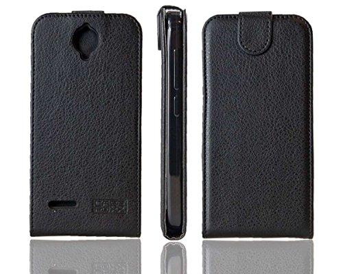 caseroxx Flip Cover für Alcatel One Touch Fire E 6015X, Tasche (Flip Cover in schwarz)