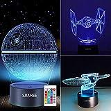 3D Star Wars Lamp - Star Wars Gifts - Star Wars Light - Star Wars Lamp& Perfect Gifts for Kids and Star Wars Fans(3 pcs) (Star Wars)
