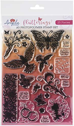 Angela Poole Flutterings Stempel-Set, A5, transparent