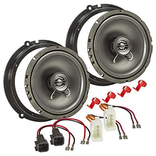 tomzz Audio 4015-011 Lautsprecher Einbau-Set passend für Ford Fiesta B-Max C-Max Focus Mondeo 165mm Koaxial System TA16.5-Pro