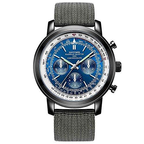 Relojes De Pulsera,Cronógrafo Piloto De Aviación Reloj Deportivo C