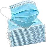 50 maschere usa e getta per adulti, usa e getta e getta, traspiranti, per moto, maschere facciali, traspiranti, anti e anti-appannamento