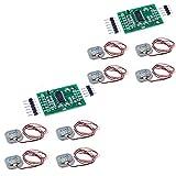 WSDMAVIS 2 Sets HX711 Load Cell Amplifier A/D Module + 50KG Load Cell Half-Bridge Body Scale Weight Strain Sensor Resistance Kit