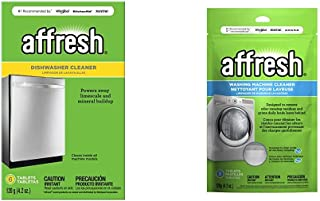 Affresh Dishwasher Cleaner, 6 Tablets | Formulated to Clean Inside All Machine Models & Washing Machine Cleaner, 3 Tablets | Cleans Front Load and Top Load Washers, Including HE