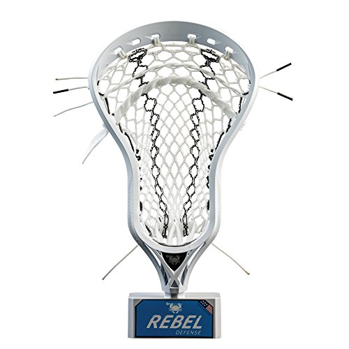 East Coast Dyes - Rebel Defense Strung Lacrosse Head - White - Elite Pocket - Black/Stinker - Hero 2.0 SS