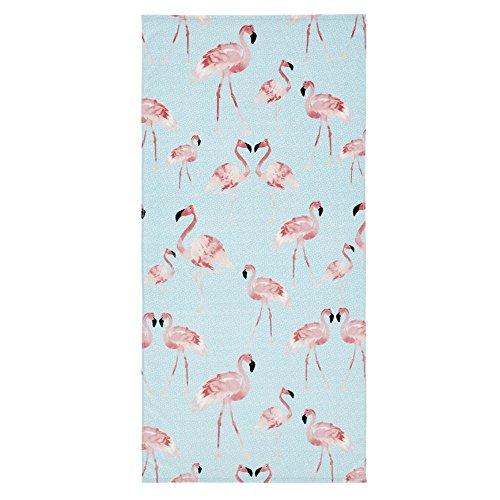 Catherine Lansfield Flamingo Strandtuch Multi, Baumwolle, Mehrfarbig, 160x 76x 0,4cm