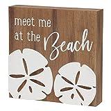 Collins Letrero de Madera con Texto en inglés «Meet Me at The Beach»