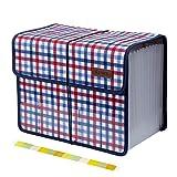 Uquelic Oxford Clasificadores Carpetas de Acordeón 13 Bolsillos Acordeon Documentos Soporte Extensible Portátil Ampliable Clasificadora de Acordeón(Fucsia)