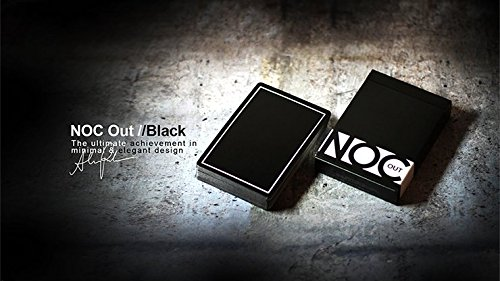 Mazzo di Carte NOC Out: Black Playing Cards - Mazzi di Carte da Gioco - Giochi di Magia