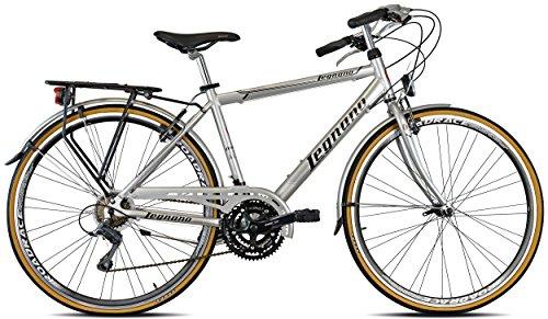 Legnano Ciclo 300 Sanremo, City Bike Uomo, Grigio/Nero, 48