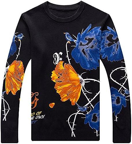 OME&QIUMEI Hommes's chandail Knit chandail chandail épaississeHommest d'impression
