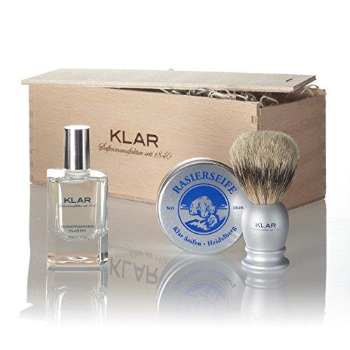 Klar Boîte à savon pour homme avec pinceau 750 g