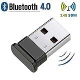 Adattatore USB Bluetooth, Trasmettitore Bluetooth 4.0, Chiave USB Bluetooth per PC, Ricevi...