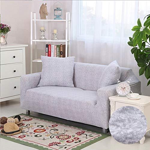 ASCV Funda elástica elástica seccional Wrap Funda de sofá Todo Incluido para Sala de Estar Funda de sofá en Forma de L Loveseat A22 Funda de cojín x2