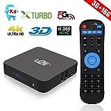 Android 7.1 TV Box 3GB RAM 16GB ROM Amlogic Octa Core Smart TV Box 64 Bit Bluetooth 4.1 4K 3D H.265 Dual Band WiFi 2.4GHz/5GHz 1000M LAN U2C X Turbo Media Player