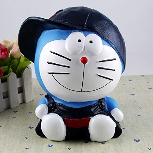 HIL Hucha Creativa De Gran Capacidad, Hucha De Dibujos Animados Jingle Cat Cartoon, Caja De Monedas De Vinilo Doraemon, Regalo De Vacaciones Regalo De Navidad Regalo De Cumpleaños Infantil,A