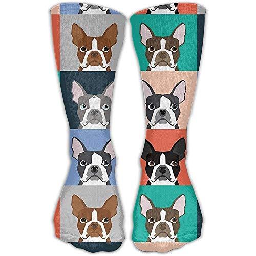 Rodilla Alta Calcetines Boston Terriers Pop Art Novedad Vestido De Tobillo Para...