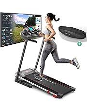 Sportstech Tapis de Course F10 modèle 2020 - Marque de qualité Allemande + Video Events & Multiplayer APP - Nouvelle Console - | 1HP à 10 km/h | Home Trainer avec 13 programmes, Inclinaison + Pliable