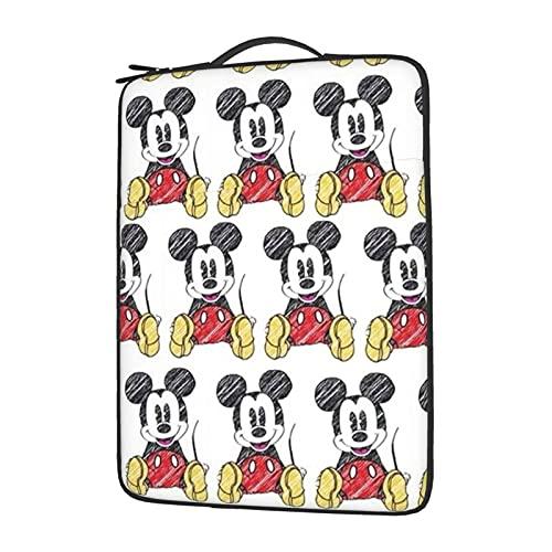 Funda protectora para ordenador portátil Mickey Cartoon Mouse resistente al agua, a prueba de golpes y polvo para ordenador portátil, bolsa de forro para tableta de 15.6 pulgadas