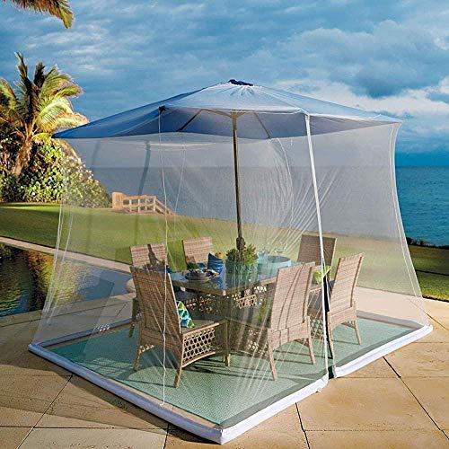 WYJW Garten-Sonnenschirme Outdoor-Moskitonetz, mit Reißverschlusstür und Polyester-Netz, Höhe und Durchmesser einstellbar
