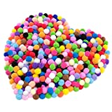 Cosweet 500pcs 1 Inch Art Pom Poms Assorted Colorful Pom Poms for DIY Creative Crafts Decorations,Kids Craft Project, Home Party Holiday Decorations