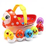 Amy & Benton Easter Toy Hen Chicken Eggs for 1 2 3 4 5 Year Old Baby &...