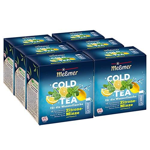 Meßmer Cold Tea Zitrone-Minze, 14 Pyramidenbeutel, 6er Pack