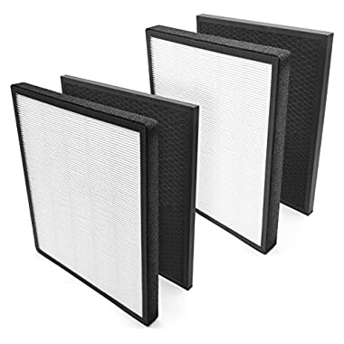 Levoit Air Purifier LV-PUR131 Replacement Filter  True HEPA & Activated Carbon Filters Set, LV-PUR131-RF , (2 Pack)