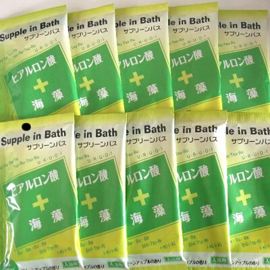 ランドマーク帽子適度なサプリーンバス ヒアルロン酸+海藻 10包セット