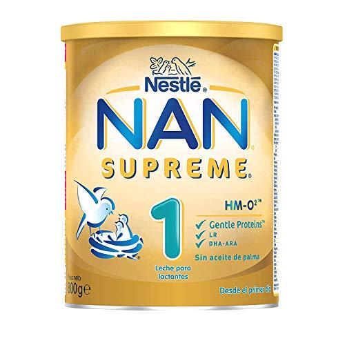 NAN SUPREME 1 - Leche para lactantes en polvo Premium - Fórmula para bebé - Desde el primer día - 800g