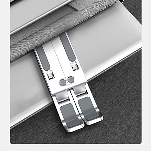 Proffisy Laptop Stand Adjustable Computer Stand Ergonomic Portable Tablet Stand Foldable Compatible with MacBook Dell XPS HP Lenovo (Silver)