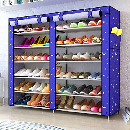 BaiJaC Estante de Zapatos, Gabinete de Zapatos a Prueba de Polvo 6 Niveles de Zapatos 36 Pares de Zapatos Organizador de Almacenamiento de Zapatos, 120 x30 x110cm (Color: a) (Color : F)