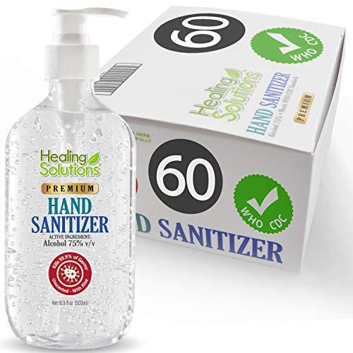 Hand Sanitizer Gel (60 Pack x 16.9oz) - 75% Alcohol - Kills...