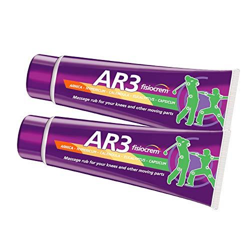 Fisiocrem AR3 - crema de masaje para rodillas y otras partes móviles - 100 ml (Pack 2 unidades)